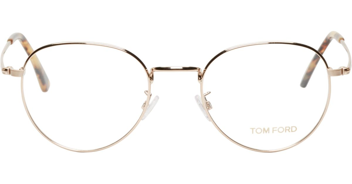 eb8a362929 Lyst - Tom Ford Gold Metal Tf5328 Optical Glasses in Metallic
