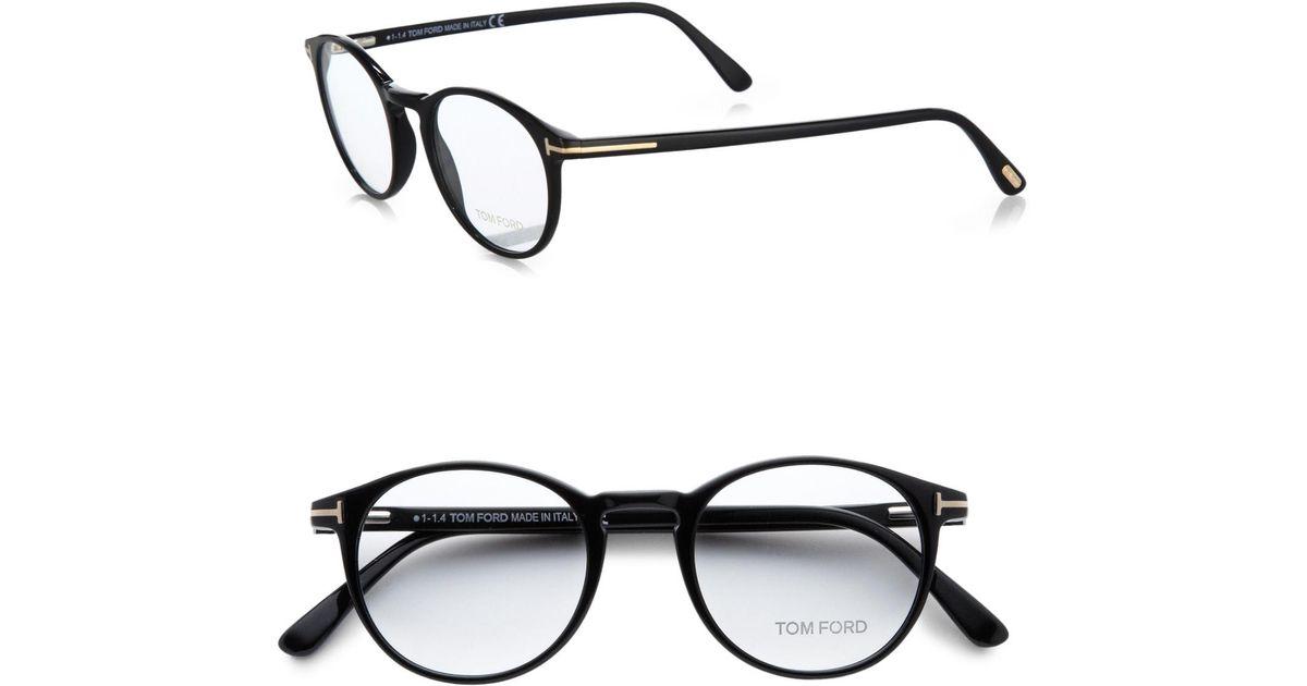 89fbadca81073 Tom Ford 5294 Vintage Round Optical Frames in Black for Men - Lyst