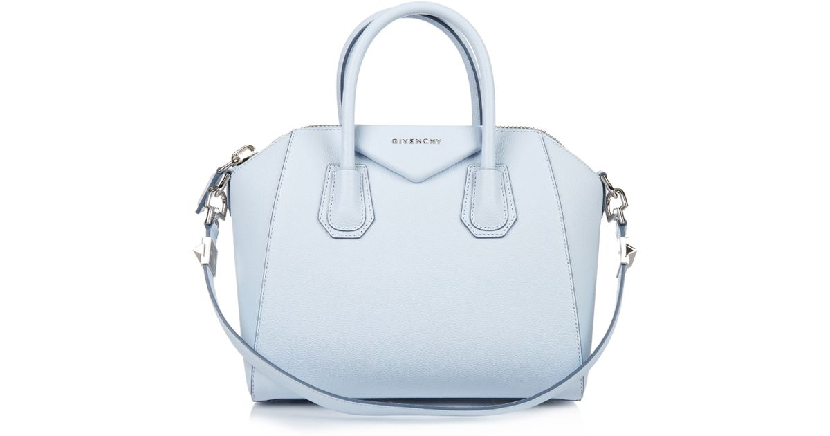 c8a4d850eb Lyst - Givenchy Antigona Small Leather Tote in Blue