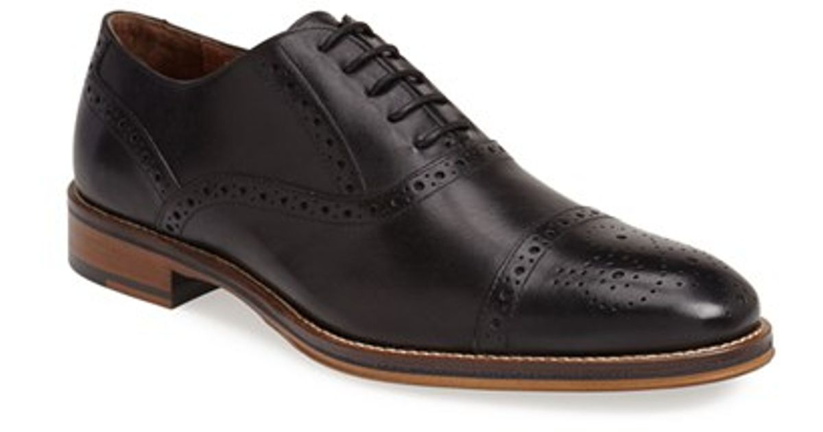 Johnston Amp Murphy Conard Cap Toe Oxford In Black For Men