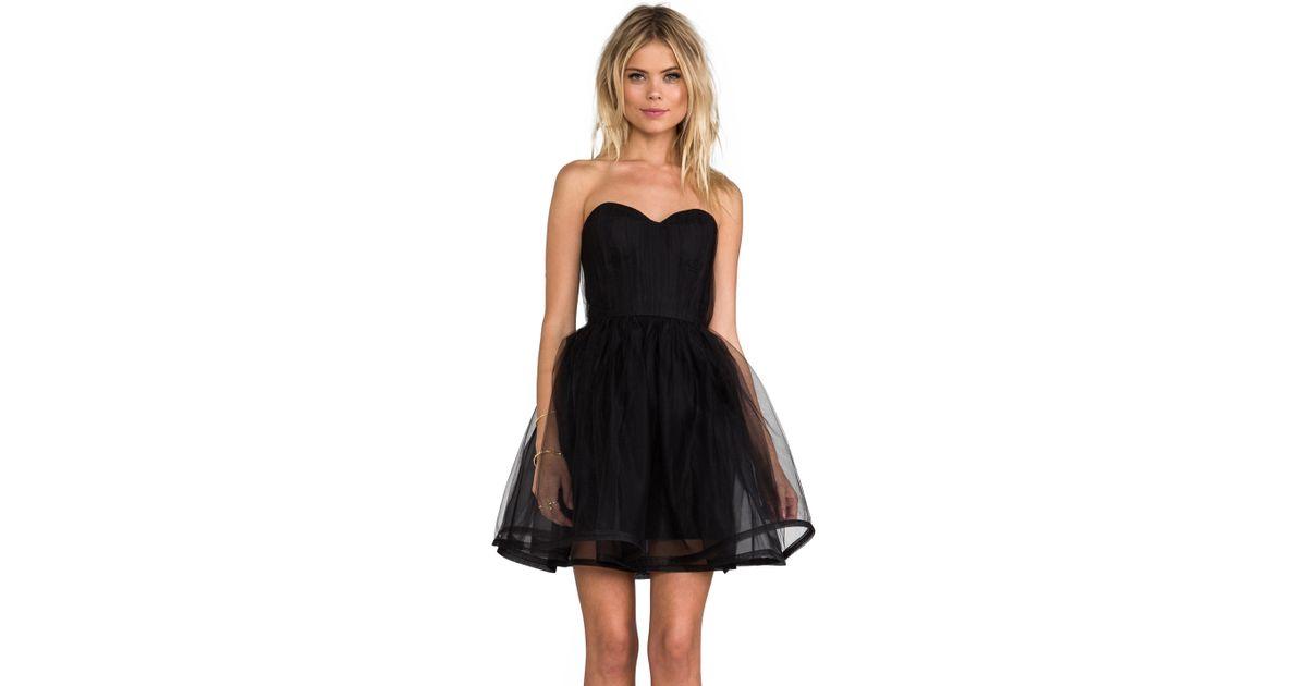 09e92feda2 Alice + Olivia Alice Olivia Landi Gathered Cinched Waist Pouf Dress in Black  in Black - Lyst