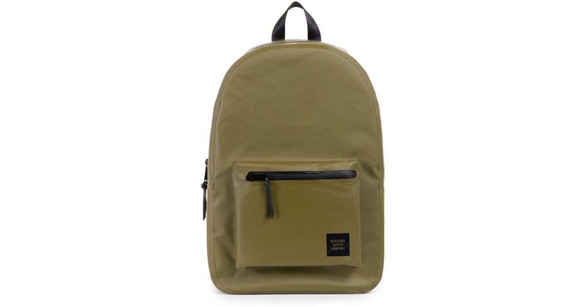 8432ad08a5b Lyst - Herschel Supply Co.  settlement - Studio Collection  Water Resistant  Tarpaulin Backpack in Green for Men