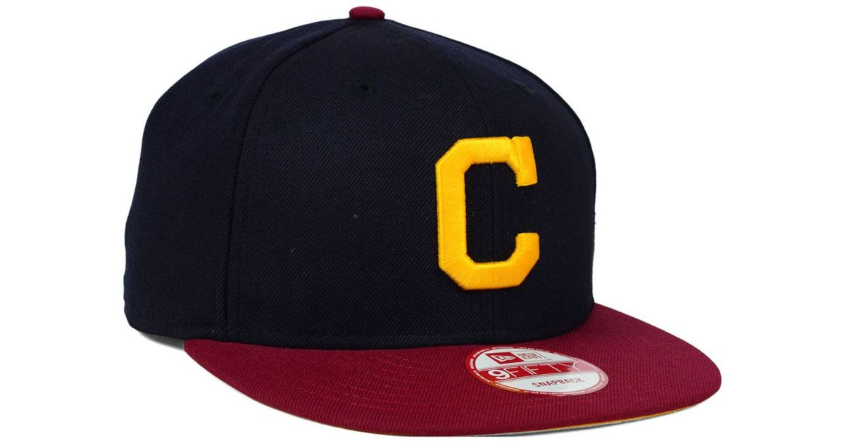 on sale abef3 b4bc4 ... uk lyst ktz cleveland indians 9fifty snapback cap in blue for men 11041  8b174