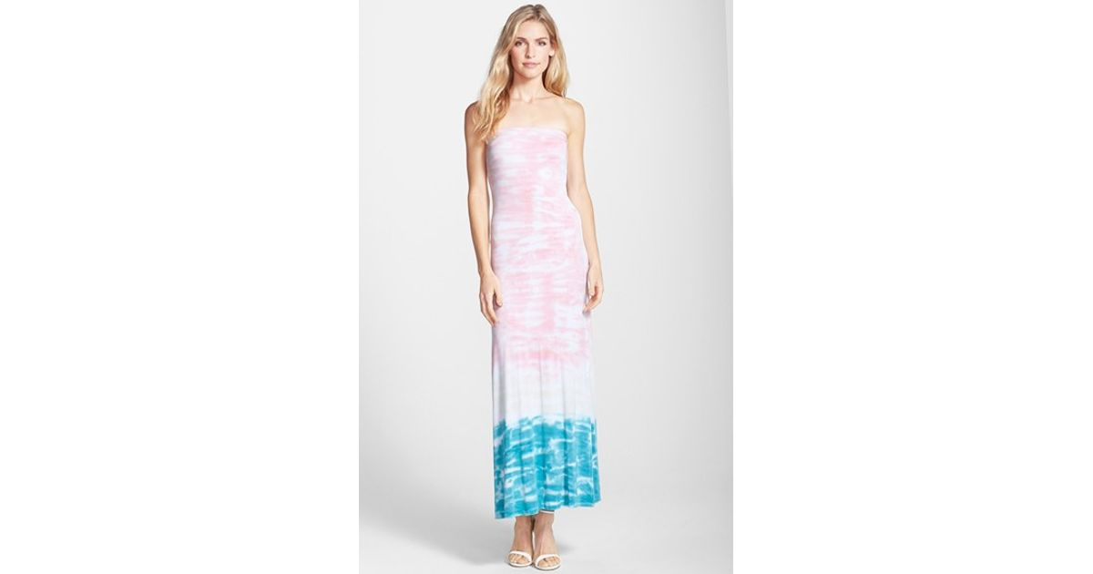 Lyst Tart Collections Rylie Tie Dye Convertible Maxi Dress In Pink