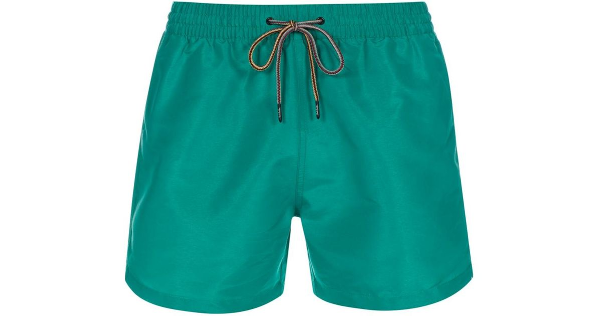 Paul Smith Men S Green Swim Shorts In Green For Men Lyst