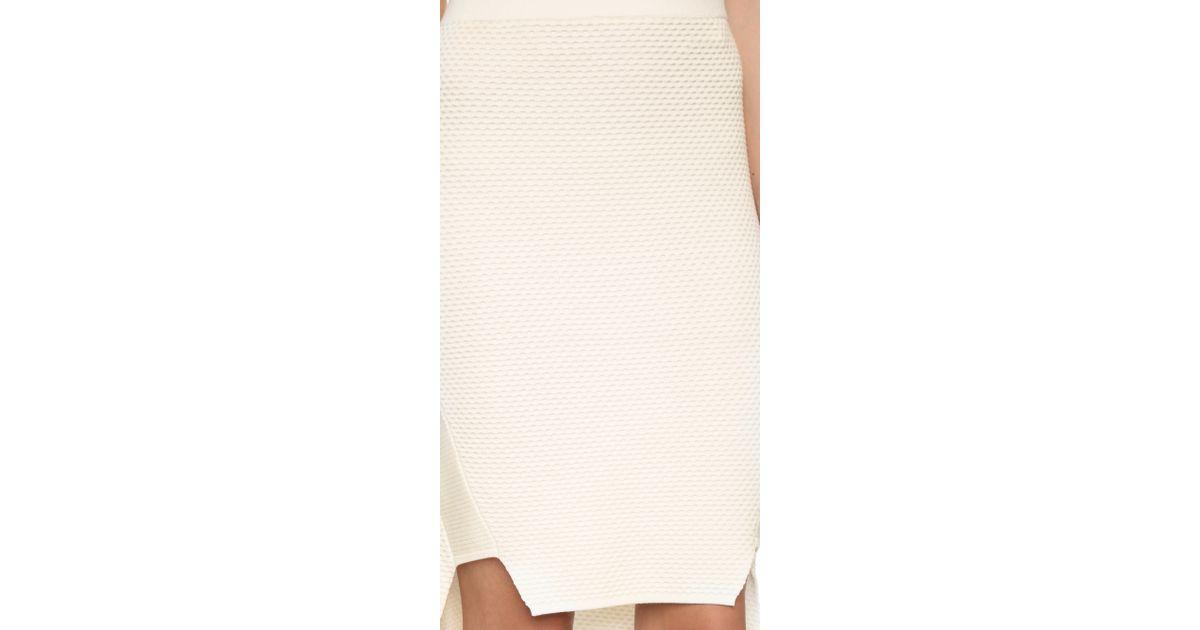 64043edcca Lyst - Jonathan Simkhai Tread Knit High Low Skirt - Grey in Natural