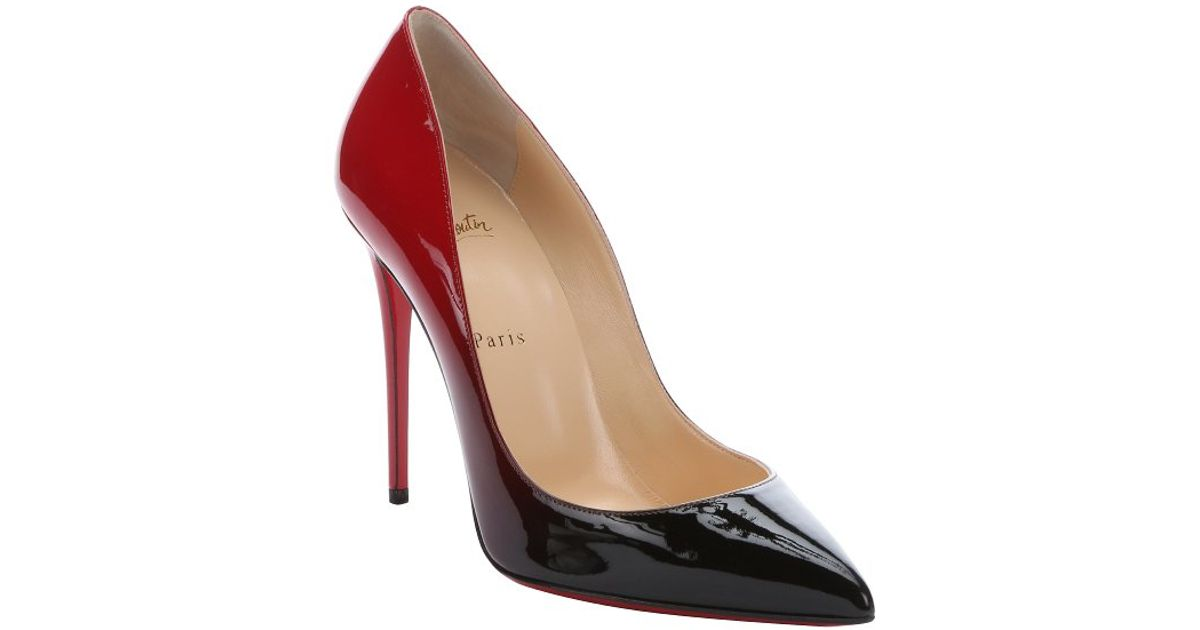 louboutin's pigalle follies patent degrade