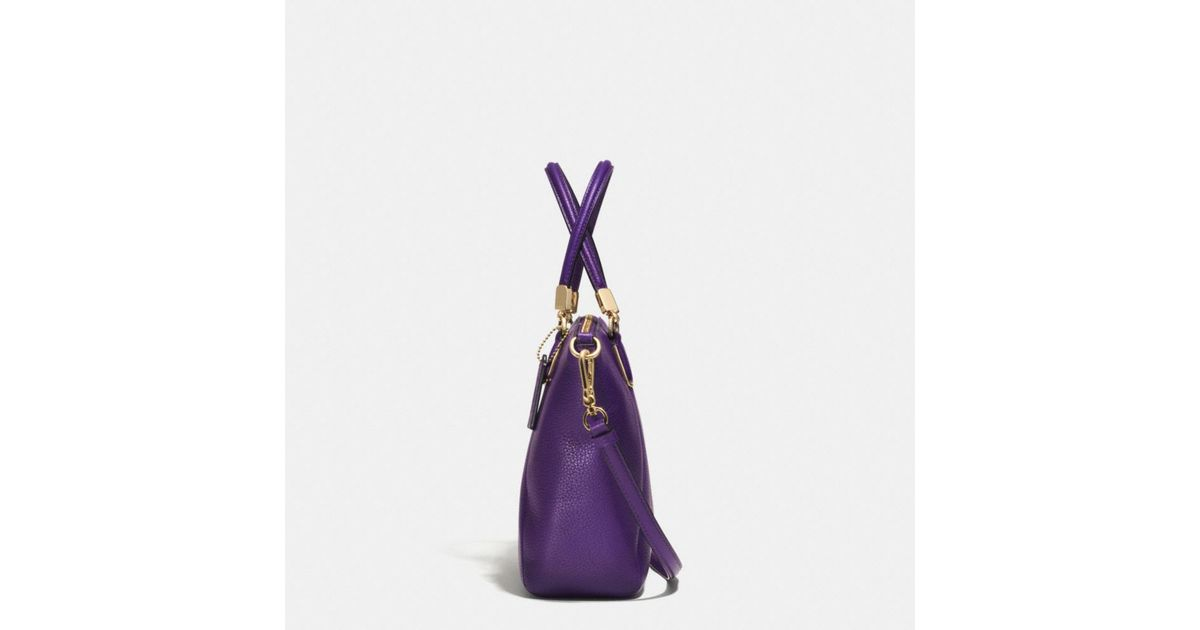414ab06d378b0 COACH - Purple Small Kelsey Crossbody In Pebble Leather - Lyst