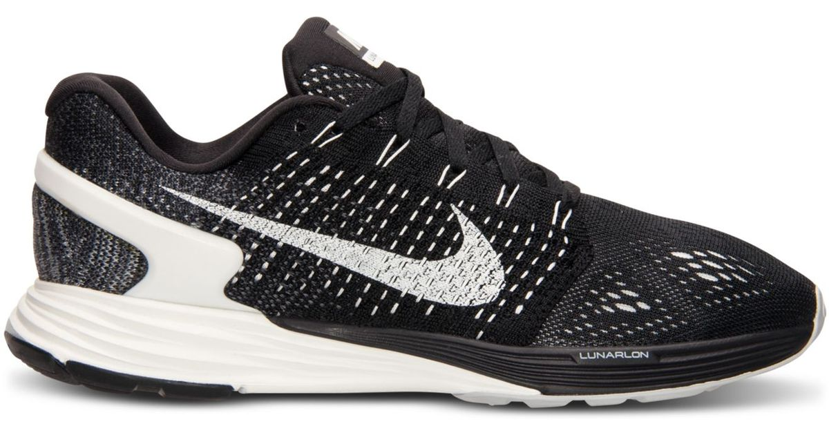 huge selection of 1adee ec668 Lyst - Nike Women s Lunarglide 7 Running Sneakers From Finish Line in Black