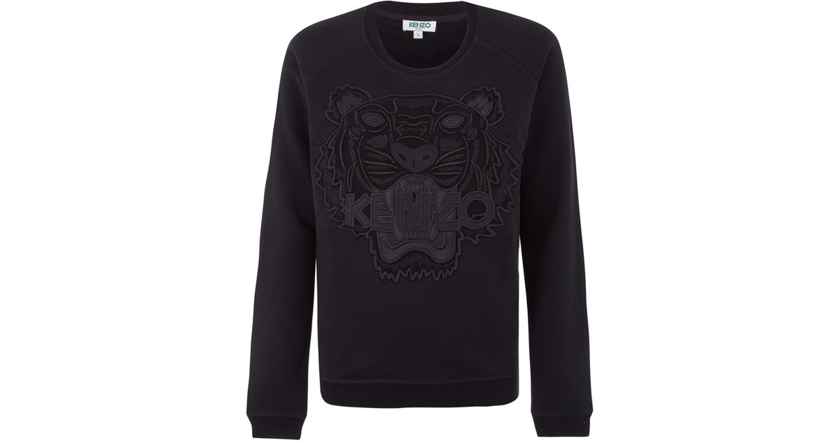 Tiger Kenzo Kenzo Sweatshirt Applique Black Aq54R3Lj
