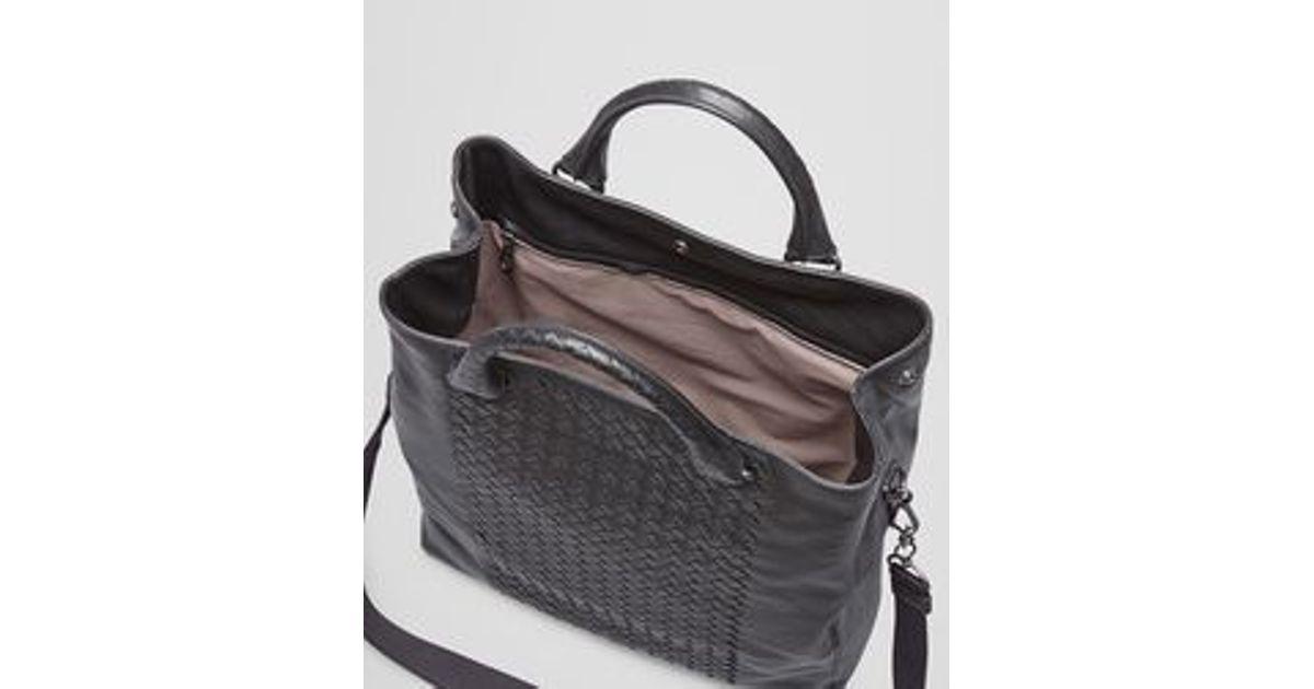 24825c3b54ebf Bottega Veneta Tote Bag In Nero Intrecciato Nappa in Black for Men - Lyst