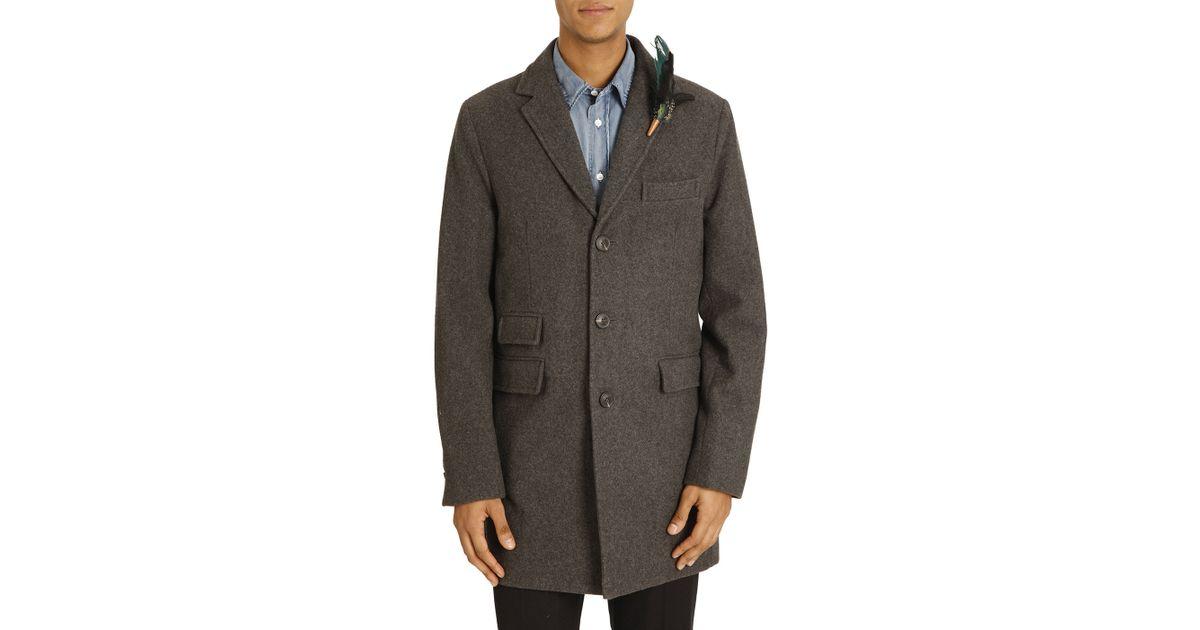 Atelier scotch grey wool coat in gray for men lyst for Atelier maison scotch