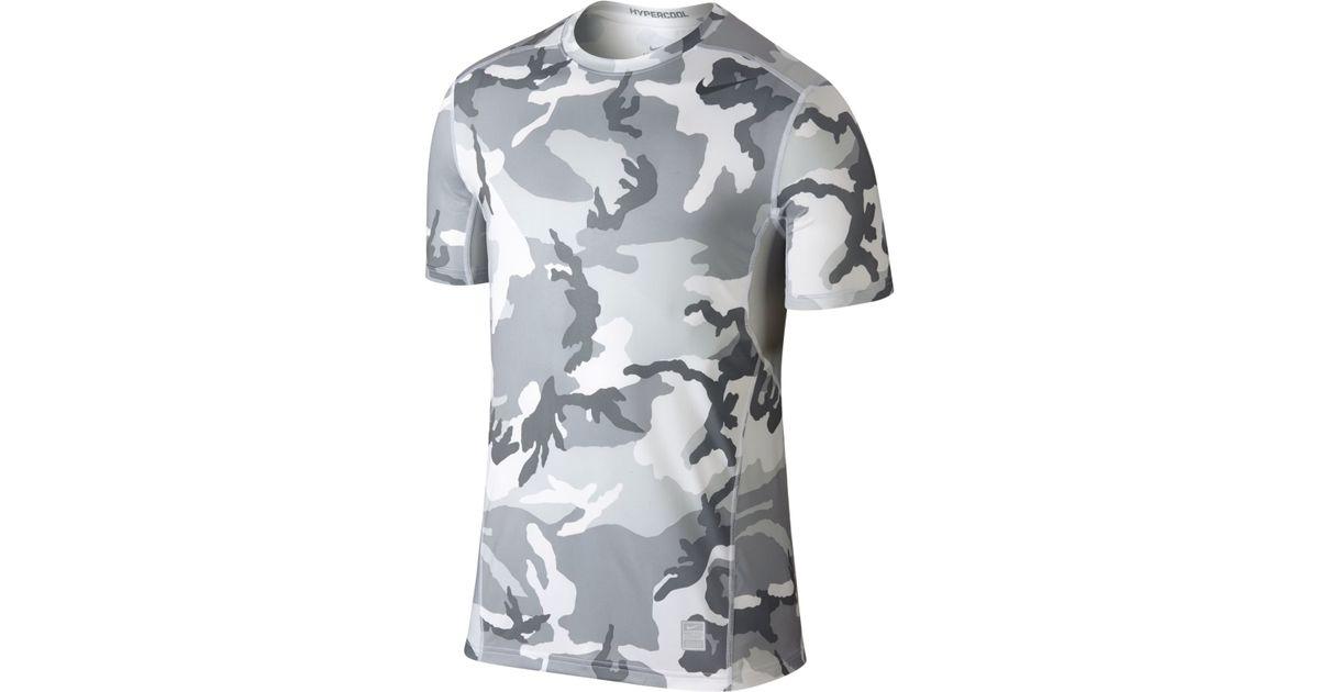 b27fae6a1438 Lyst - Nike Hypercool Dri-fit Camo T-shirt in White for Men