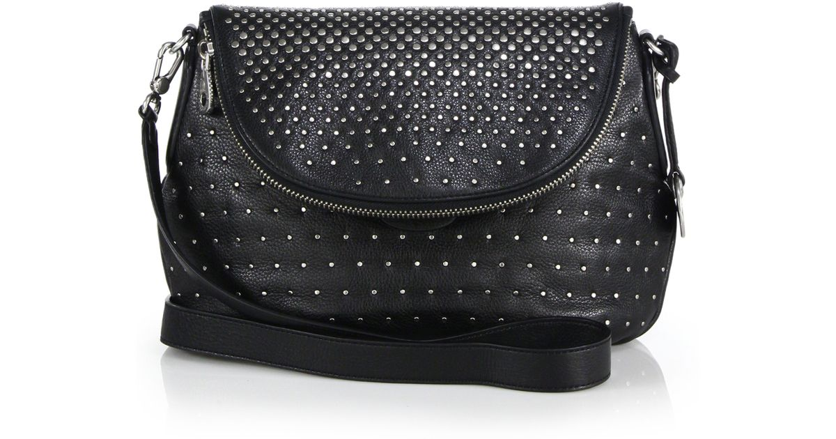594be4f54a6 Marc By Marc Jacobs Natasha Studded Leather Crossbody Bag in Black - Lyst