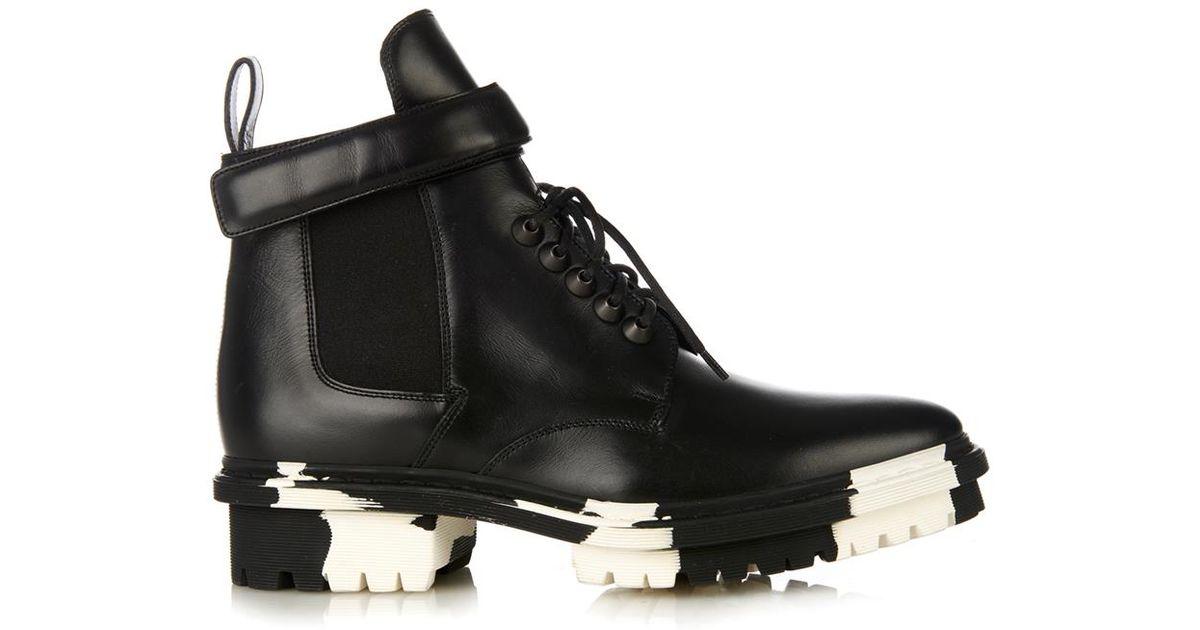 181c1ae9f9a Balenciaga Black Unit Leather Biker Ankle Boot