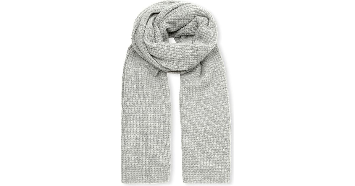 b5472360d609a Madeleine Thompson Waffle-knit Cashmere Scarf in Gray - Lyst