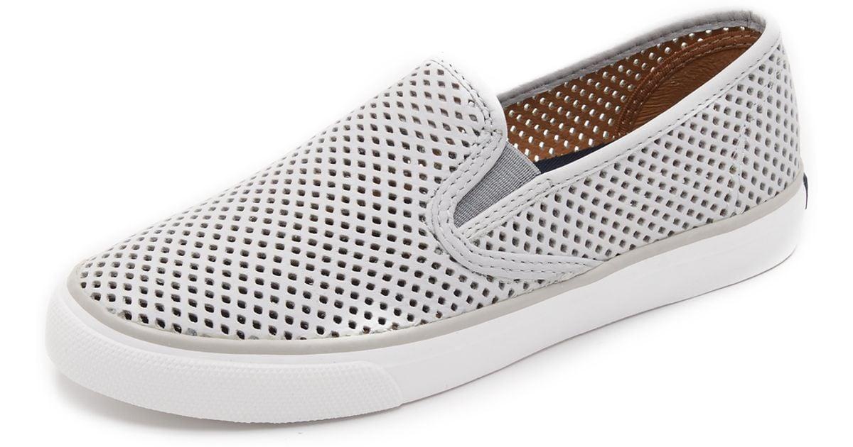 Seaside Perforated Slip On Sneakers