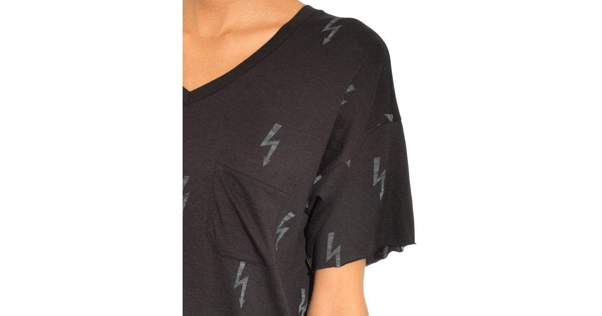 cf2a3e979 Lyst - Zoe Karssen Lightning-Bolt Print T-Shirt in Black