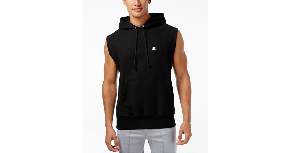 chion s sleeveless hoodie in gray for lyst