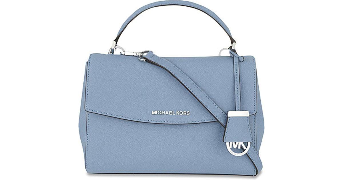 cfc9082c006f MICHAEL Michael Kors Ava Small Saffiano Leather Satchel in Blue - Lyst