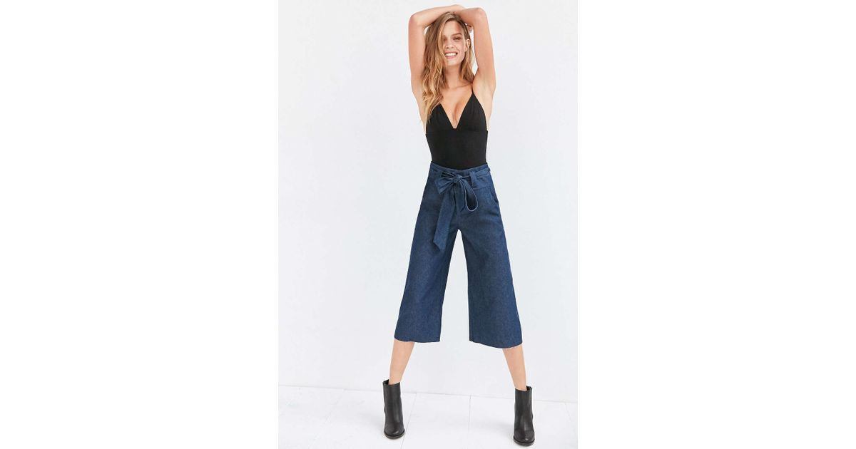 e872dd816a7b6 Cooperative Naomi Cropped Tie-waist Pant in Blue - Lyst