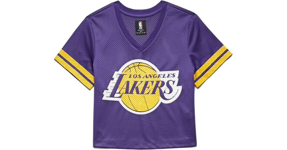 Forever 21 Los Angeles Lakers Jersey Top In Purple