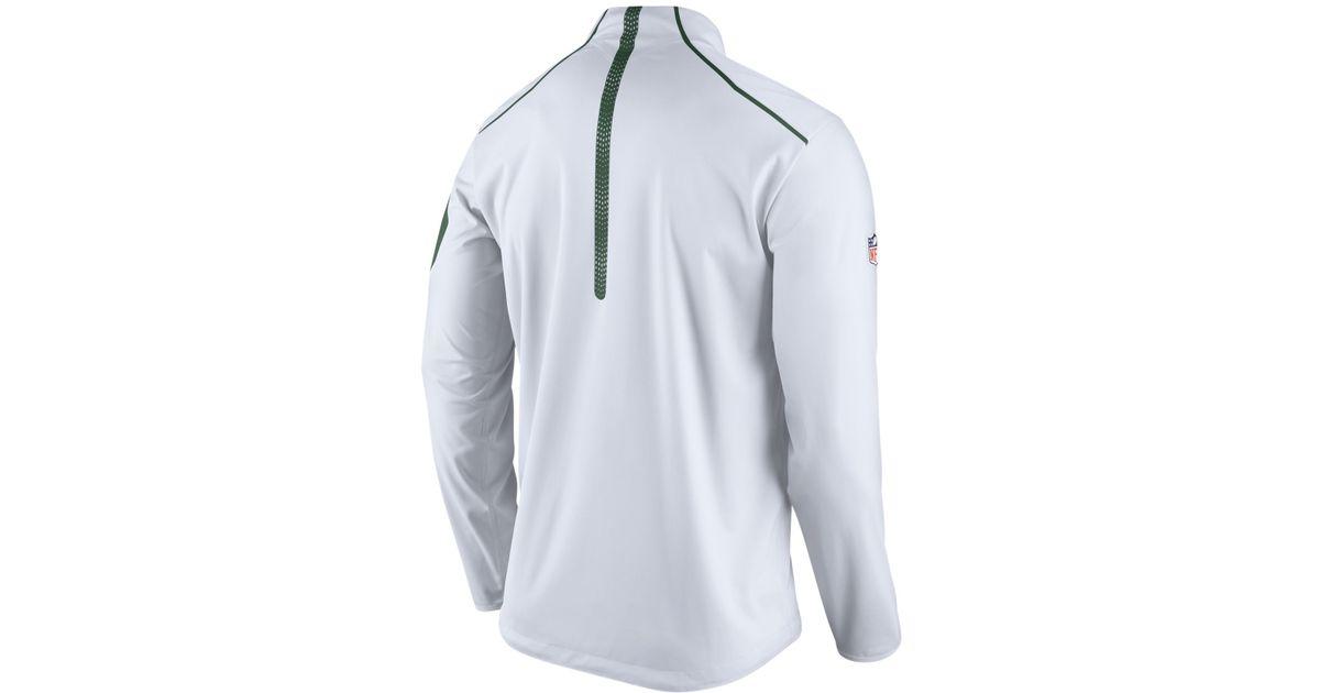 b96dac35 Nike White Men's New York Jets Alpha Fly Rush Quarter-zip Jacket for men