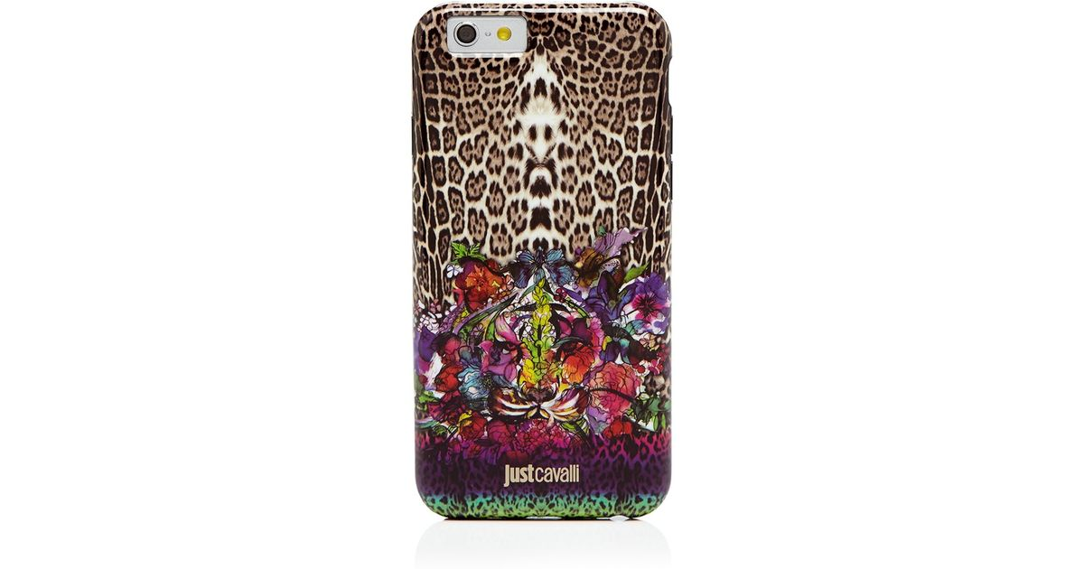 e96c06f21a0a5 Just Cavalli Iphone 6 Case - Leo Tiger Garden - Lyst
