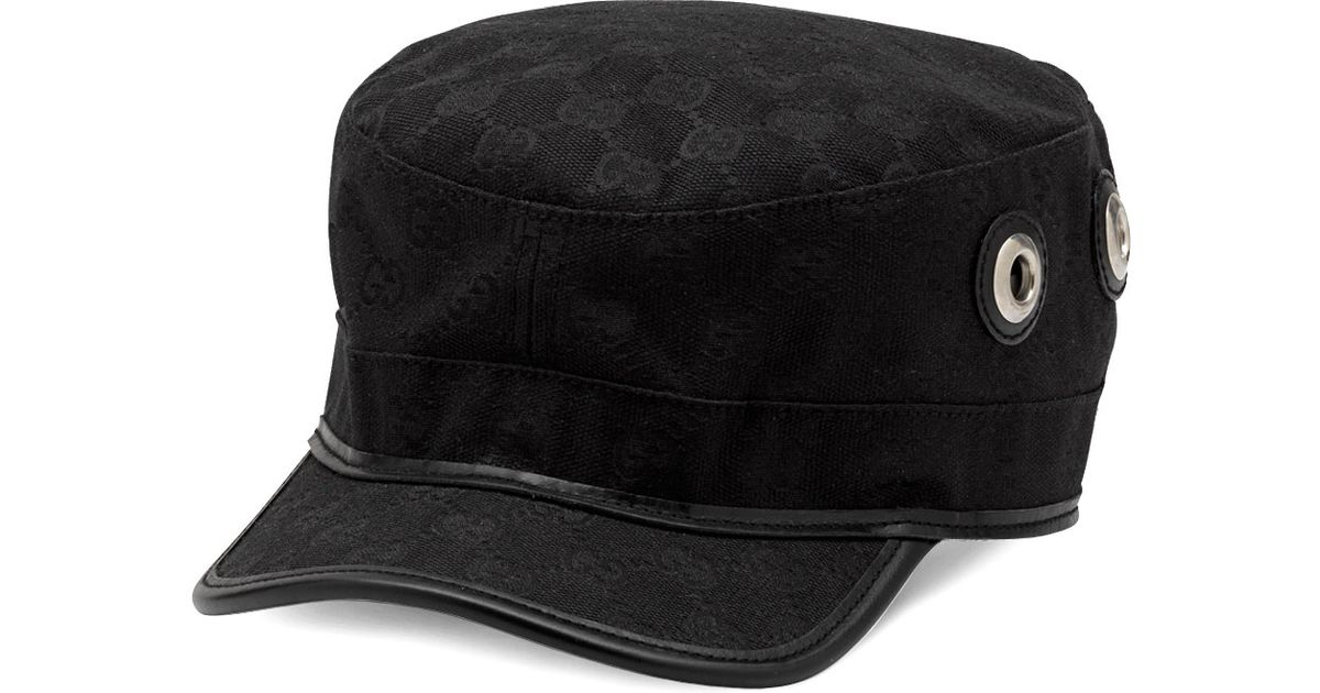 Lyst - Gucci Military Cap in Black 24f626b64bd