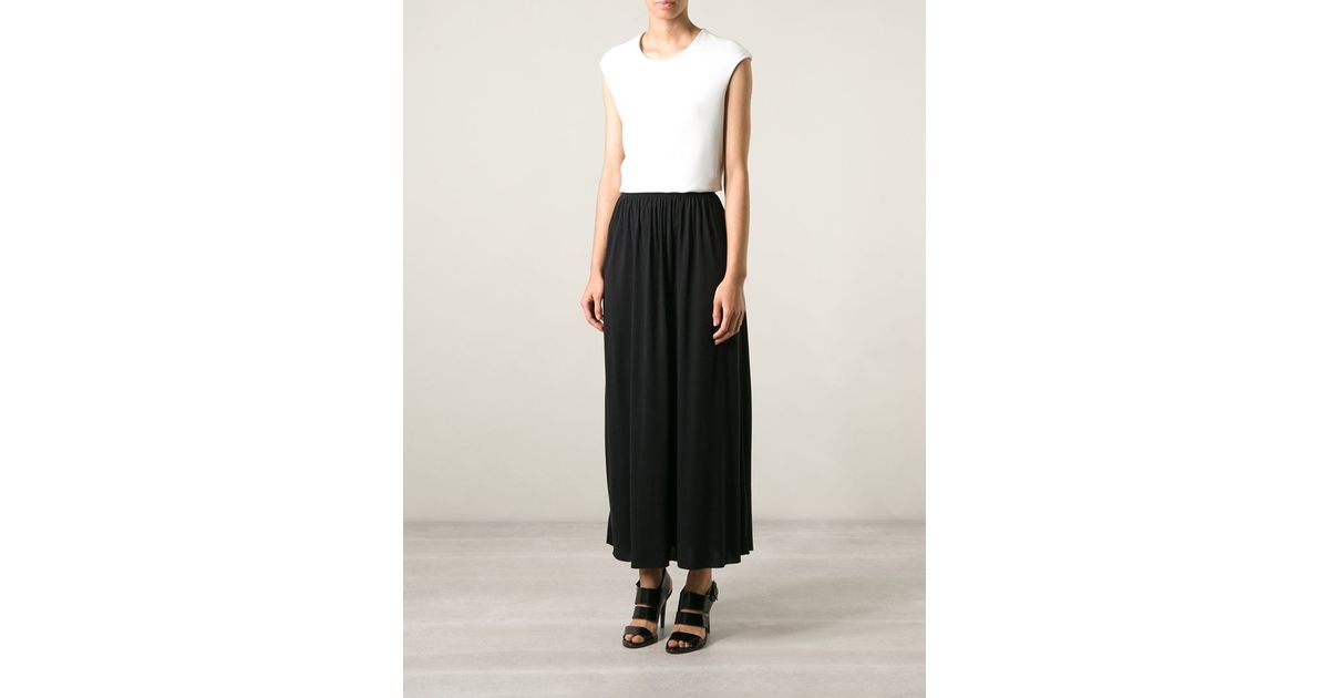 7a70c1804 By Malene Birger Elasticated Waist Maxi Skirt in Black - Lyst