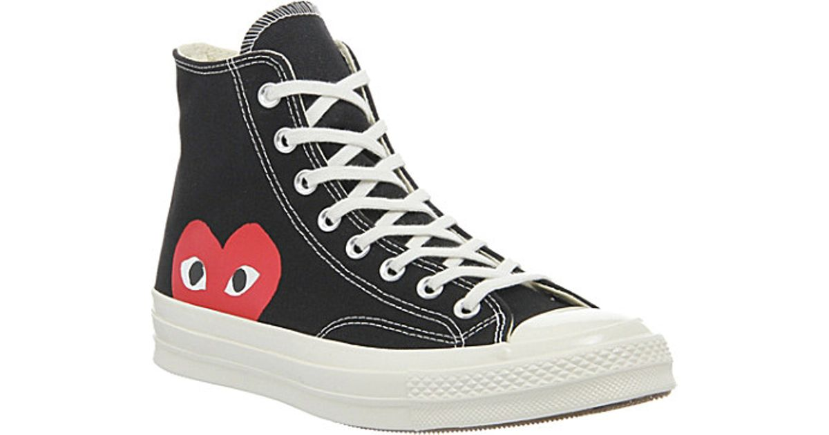 Comme des garçons Converse High-top 70s X Play Cdg Trainers in Black for Men | Lyst