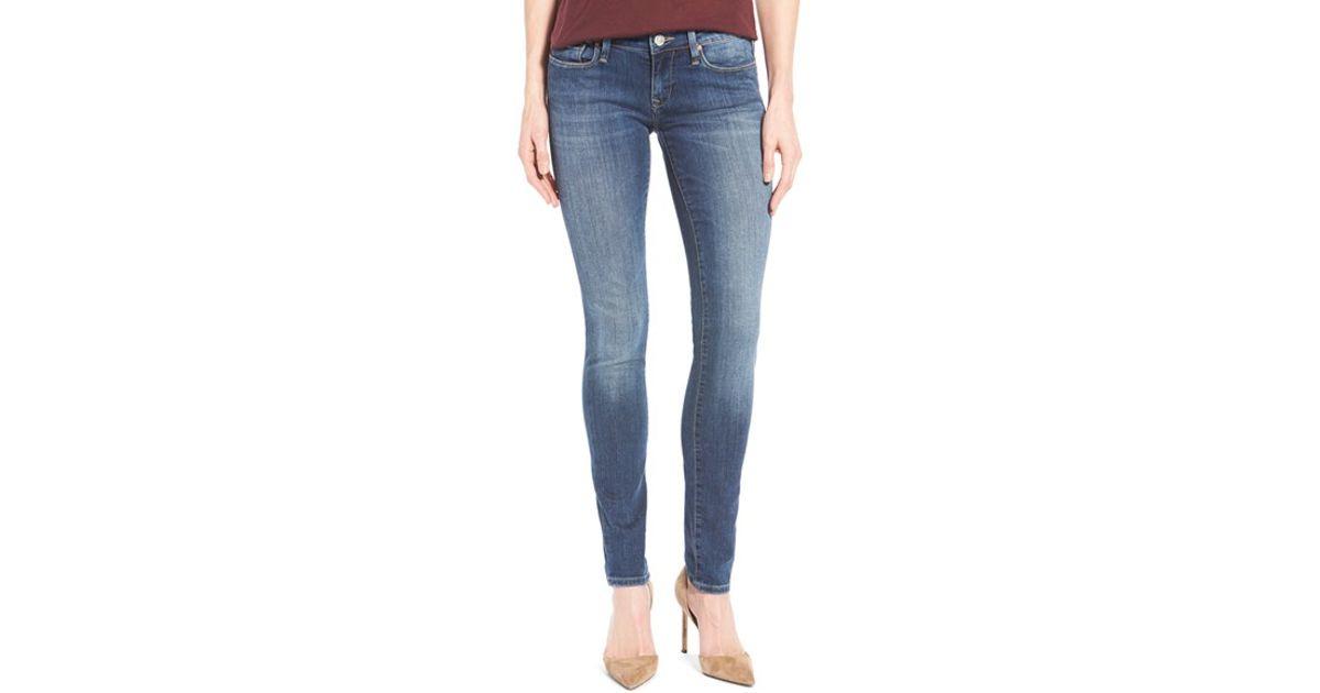 mavi jeans 39 serena 39 stretch low rise skinny jeans in blue. Black Bedroom Furniture Sets. Home Design Ideas