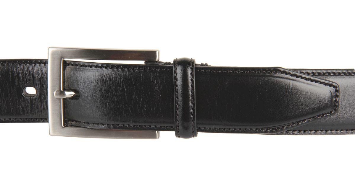 johnston murphy dress belt in black for lyst