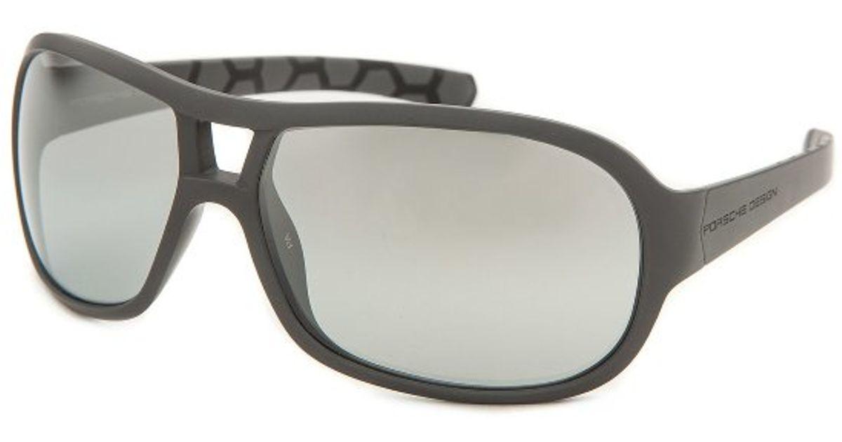 Porsche Design Men S Oval Grey Sunglasses In Black For Men