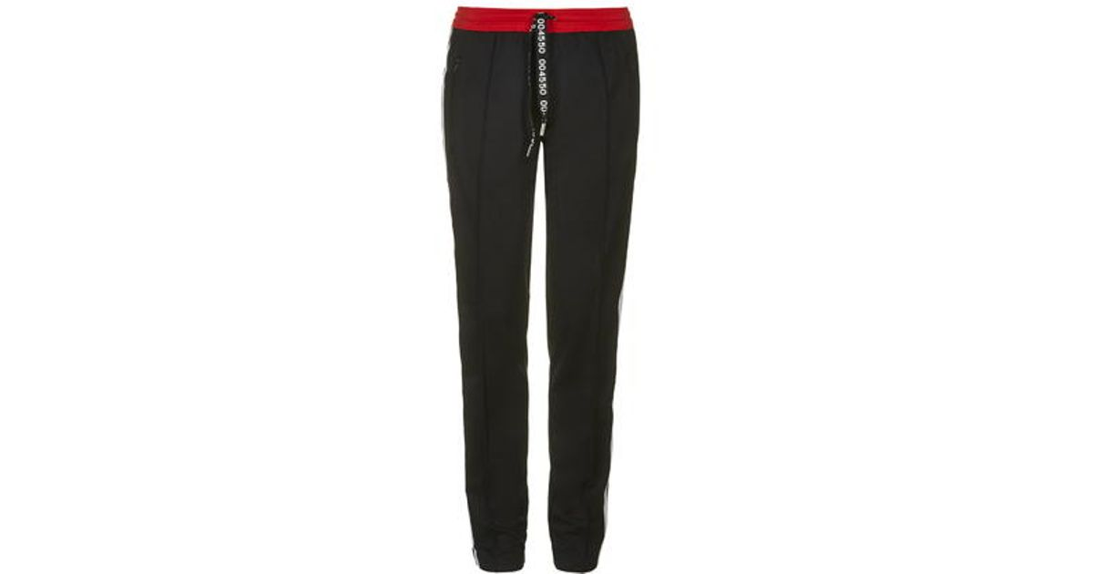 Lyst topshop superstar trackpants per adidas originali in nero
