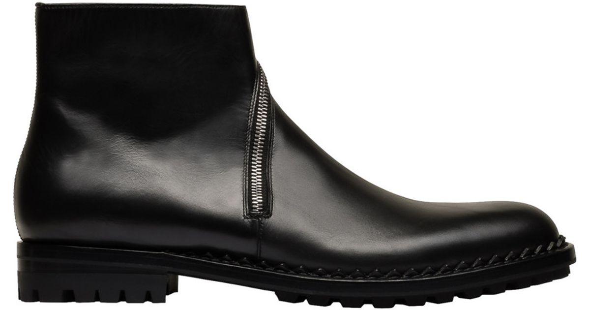 6d49e43fe5e Balenciaga Black Zip Ankle Boots for men
