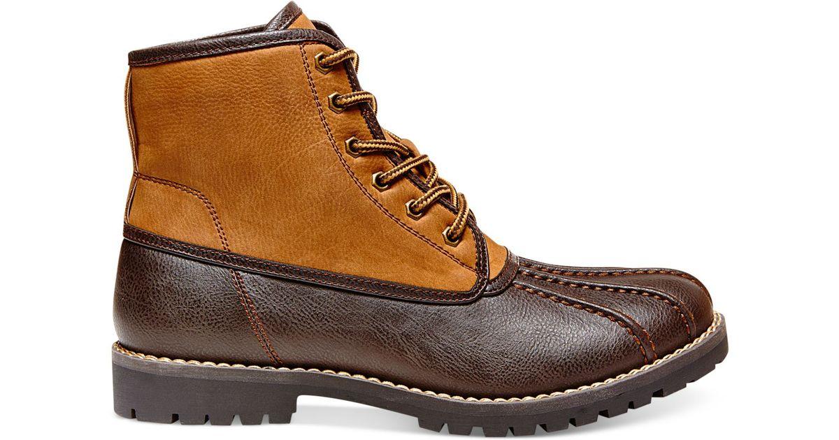 b538ff999dd Steve Madden Brown Madden Crtlnd Duck Boots for men