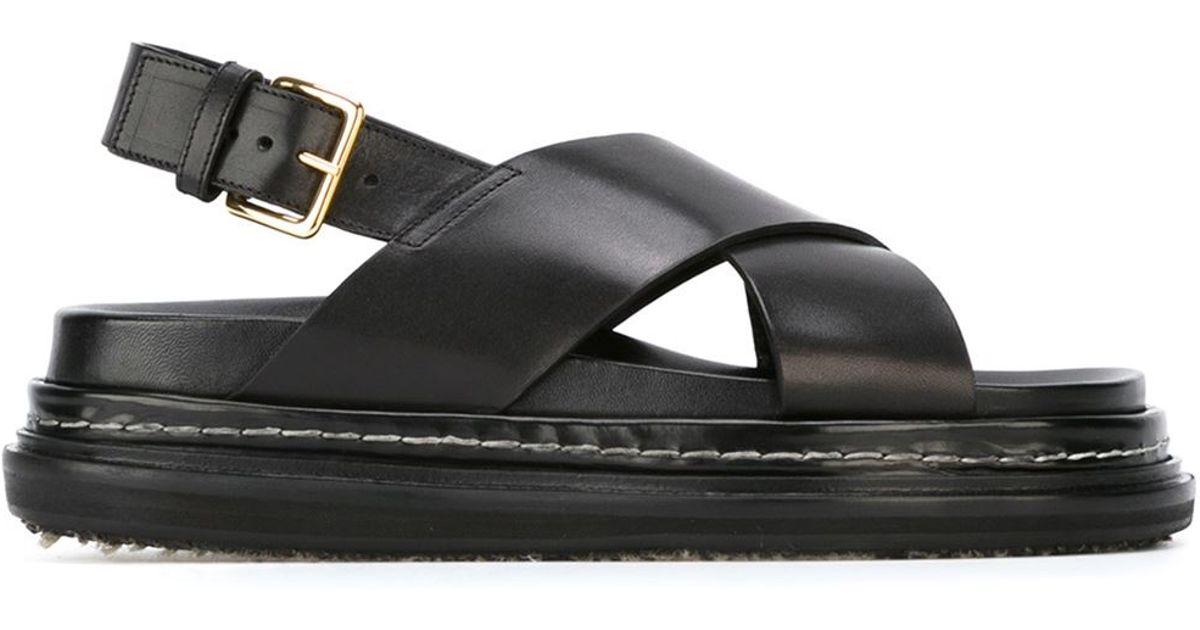 Marni Leather 'fussbett' Sandals in