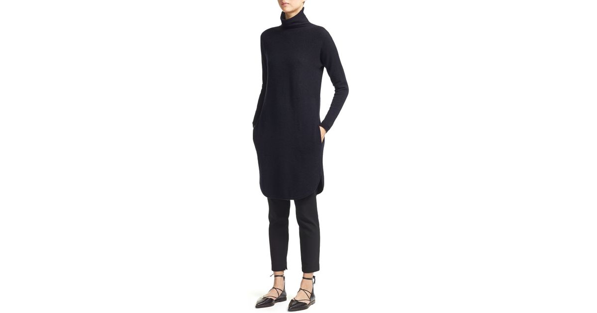 a3c7f0a2388 Whistles Soft Funnel Neck Cashmere Sweater Dress in Blue - Lyst