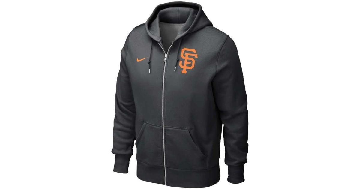 huge selection of 95276 2f2f2 Nike Black San Francisco Giants Full Zip Classic Hoodie