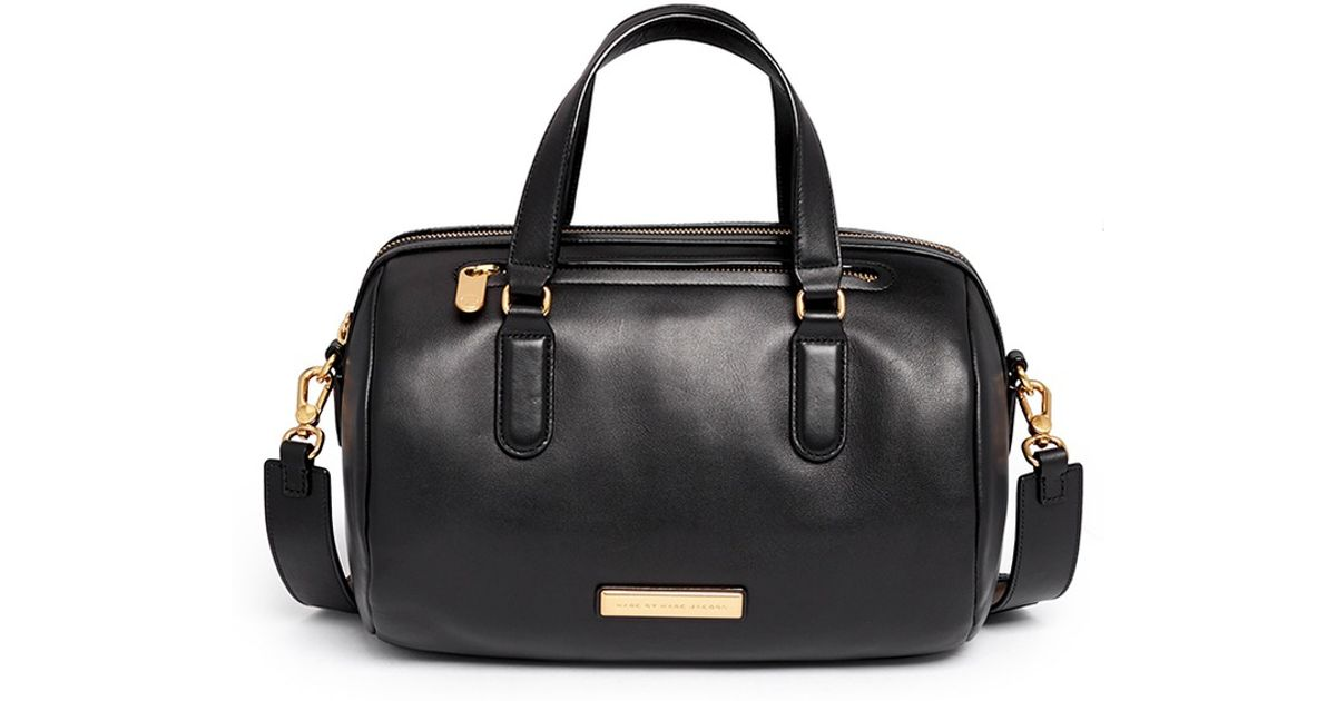 Marc by marc jacobs 'luna Satchel' Leather Duffle Bag in Black | Lyst