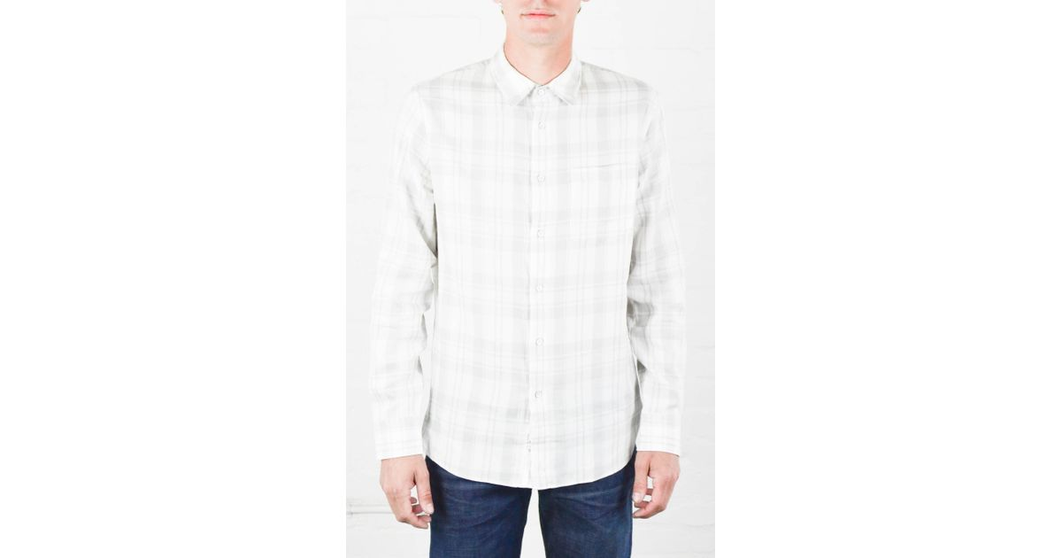 Rag Bone White And Grey Beach Shirt In White For Men