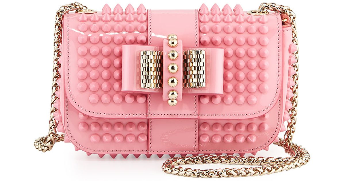 07a90310897 Christian Louboutin Pink Sweet Charity Small Spiked Cross-Body Bag