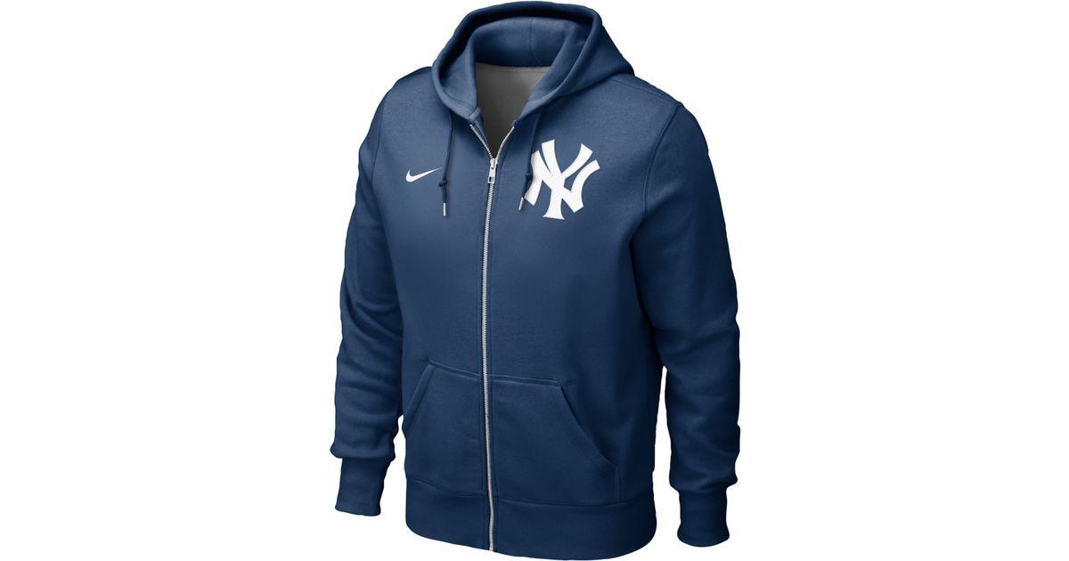 pretty nice 58945 1fb16 Nike Blue Men'S New York Yankees Full-Zip Hoodie Sweatshirt for men