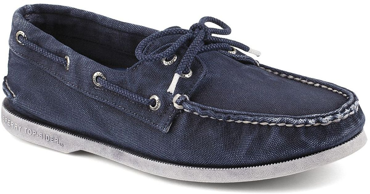 Sperry top-sider A/o 2-eye Colorwash Denim Boat Shoes in Blue for ...