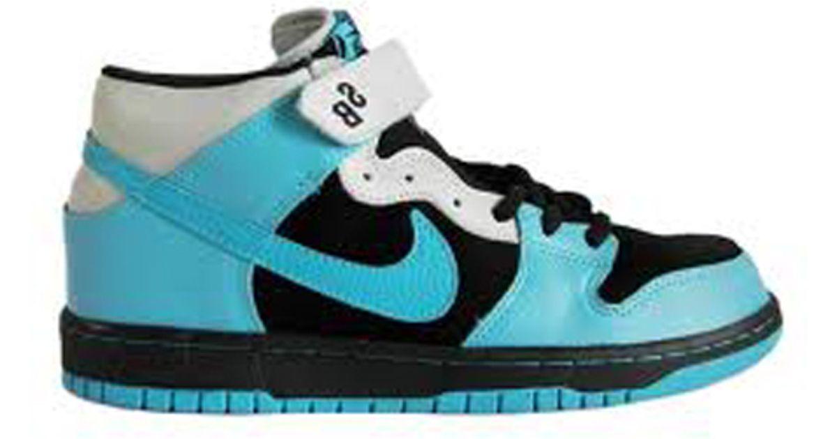 more photos 47e9a 97450 Lyst - Nike Sb Dunk Mid Pro Black/aqua Fuel Blue in Blue