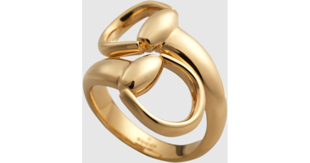 473b385ae4 Gucci Horsebit Ring In Yellow Gold