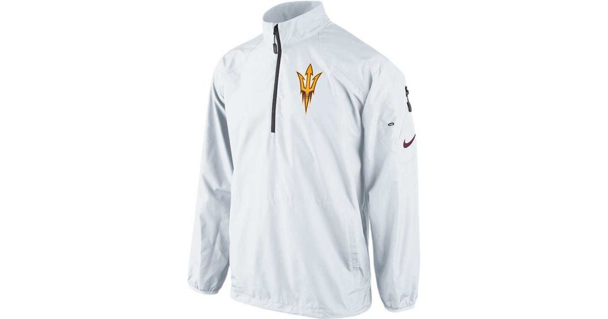 Nike Mens Arizona State Sun Devils Half Zip Pullover Jacket in ...
