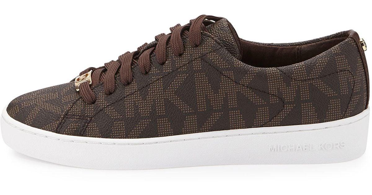 d182105e79 MICHAEL Michael Kors Brown Keaton Logo Pvc Sneaker
