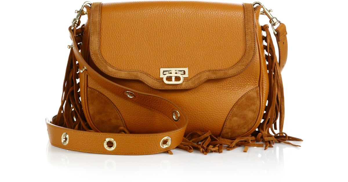 Lyst Dee Ocleppo Primrose Fringed Leather Suede Crossbody Bag In Brown
